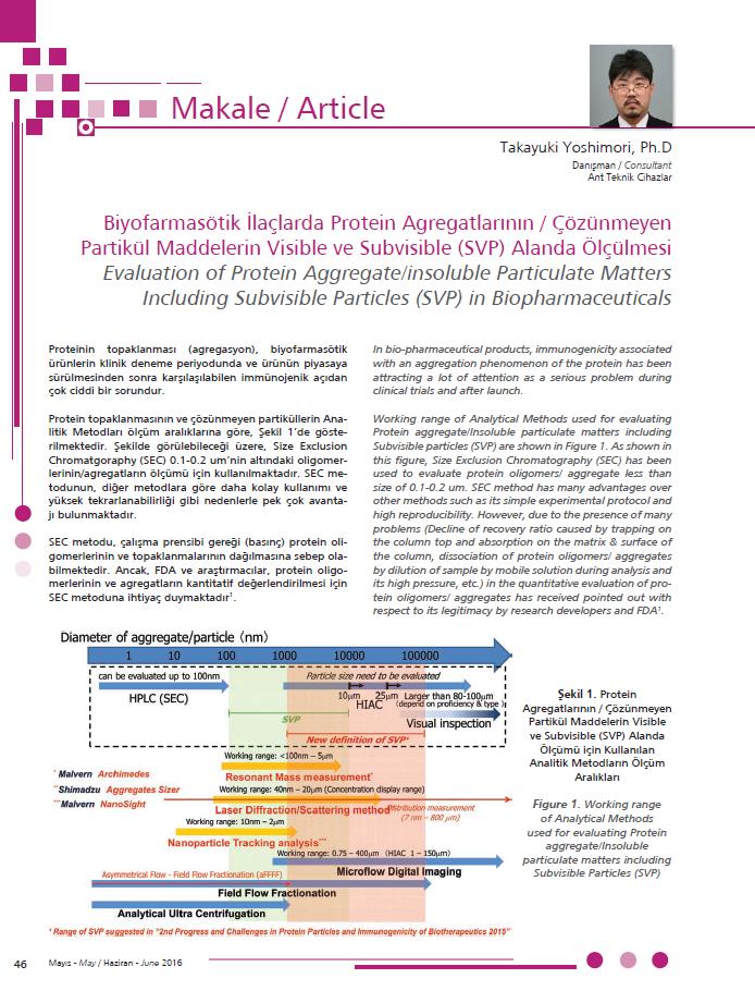 Press - Biyofarmasötik İlaçlarda Protein Agregatlarının